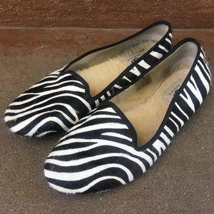 Ugg Calfhair Zebra Flats